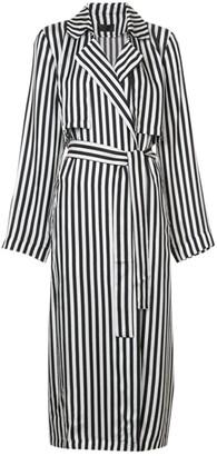 RtA Black Silk Coat for Women