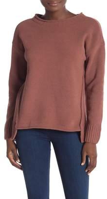 Olivia Sky Roll Neck Matte Chenille Sweater