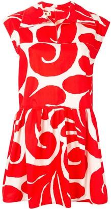 Marni Swirly Print Sleeveless Shirt