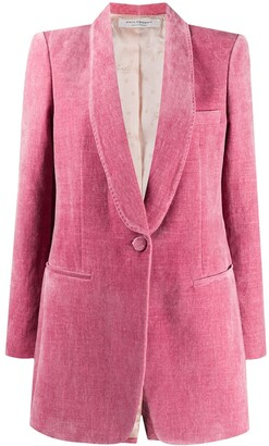 Philosophy di Lorenzo Serafini Single-Button Velvet Blazer