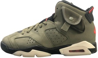Nike X Travis Scott Air Jordan 6 Khaki Suede Trainers