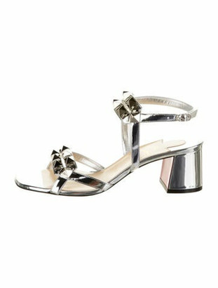 Christian Louboutin Galerietta Leather Sandals w/ Tags Silver