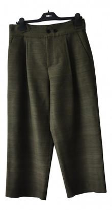 Christian Dior Green Silk Trousers