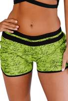 FIYOTE Women Printed Sporty Swimsuit Tankini Plus Size Beach Shorts Medium