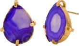 Mela Artisans Dewdrop in Purple Stud Earrings