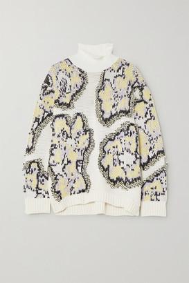 3.1 Phillip Lim Intarsia Knitted Turtleneck Sweater - White