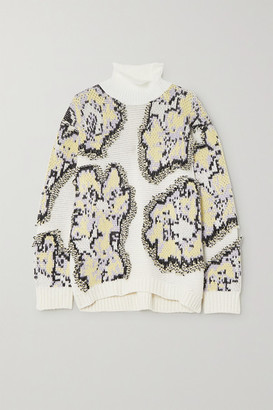 3.1 Phillip Lim Intarsia Knitted Turtleneck Sweater