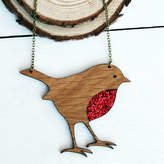 Juliet Reeves Designs Wooden Robin Necklace