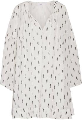 IRO Paula Metallic Fil Coupe Silk-blend Georgette Mini Dress