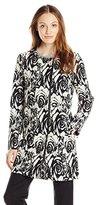 Adrianna Papell Women's Jacquard Asymmetric Zip Front Jacket