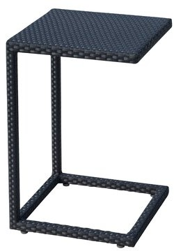 Panama Jack Onyx Wicker/Rattan Side Table Outdoor