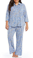 Lauren Ralph Lauren Plus His Shirt Paisley Classic Pajamas