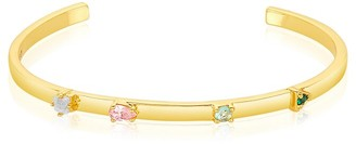 ADORNIA 14K Plated 1.50 Ct. Tw. Gemstone Cuff Bracelet