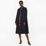 Paul Smith Women's Navy Wool-Viscose Twill Coat