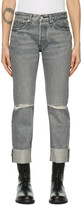 Thumbnail for your product : Rag & Bone Grey Mid-Rise Rosa Jeans