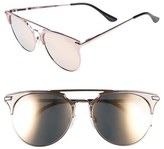 Quay 'Gemini' 55mm Sunglasses