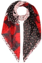 Coach Printed cotton and silk scarf