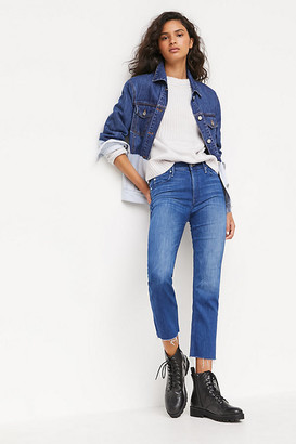 Mother The Looker High-Rise Ankle Fray Skinny Jeans By in Blue Size 32