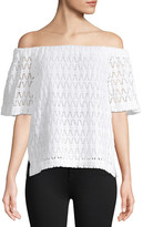 A.L.C. Cheyenne Off-The-Shoulder Lace Top