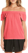 Michael Stars Coral Off-Shoulder Top