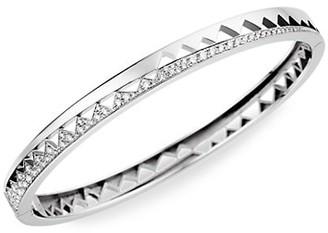 Akillis Capture Me Medium 18K White Gold Diamond Bangle Bracelet