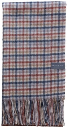 The Tartan Blanket Co. Lambswool Oversized Scarf In Rust Gingham