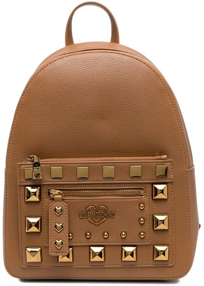 Love Moschino Studded Pocket-Front Backpack