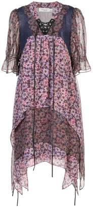 Coach floral short-sleeve flared dress