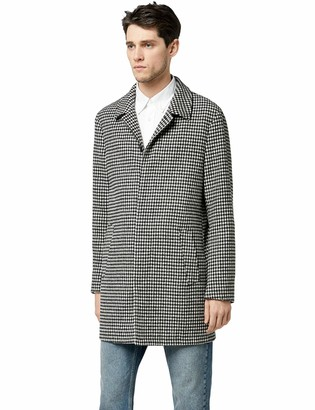 Find. Amazon Brand Men's Wool Mix Dogstooth Coat