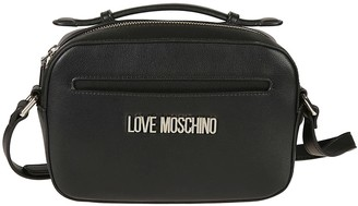 Love Moschino Logo Plaque Top Zip Shoulder Bag