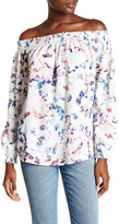 Willow & Clay Off-the-Shoulder Woven Floral Shirt