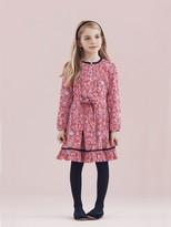 Oscar de la Renta Illustrated Lotus Flower Cotton Tunic Dress