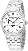 Frederique Constant Men's 40mm Steel Bracelet & Case Sapphire Crystal Quartz White Dial Watch FC-260WR5B6B
