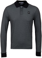 Cp Company Carbon Marl Long Sleeved Polo Shirt