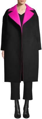 Oscar de la Renta Reversible Cocoon Coat
