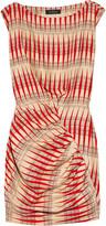 Backgammon printed silk dress
