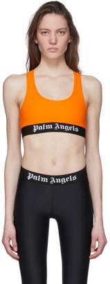 Palm Angels Orange Logo Sports Bra