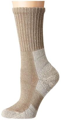 Thorlos Wool Blend Light Hiking Crew Single Pair (Khaki Heather) Women's Crew Cut Socks Shoes