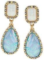 fonk store_CA fonk_CA:: Pedras Women Fashion Shiny Colorful Rhinestone Lucite Crystal Water Drop Statement Drop Earrings Vintage Jewelry
