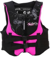 Panda Superstore Adults Swim Vest Learn-to-Swim Floatation Jackets Boating Vest, Under 70KG, Pink