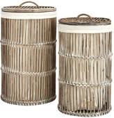 Safavieh Set Of 2 Libby Rattan Storage Hampers