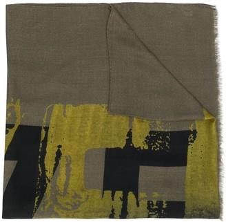 Ermenegildo Zegna Abstract Print Scarf