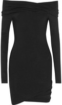 Donna Karan Off-the-shoulder Stretch-jersey Tunic - Black