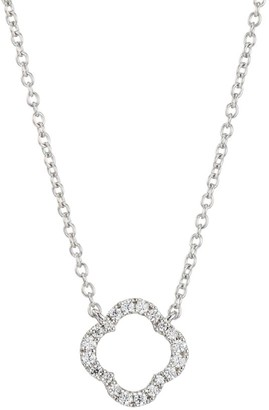 Hearts On Fire Signature Petal 18K White Gold & Diamond Pendant Necklace