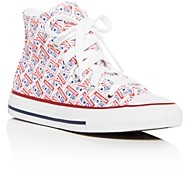 Converse Girls' License Plate High-Top Sneakers - Toddler, Little Kid