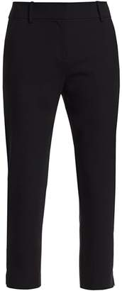 Milly Nicole Stretch Virgin-Wool Crop Pants
