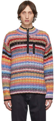 Kenzo Multicolor Stripes Zip-Up Sweater