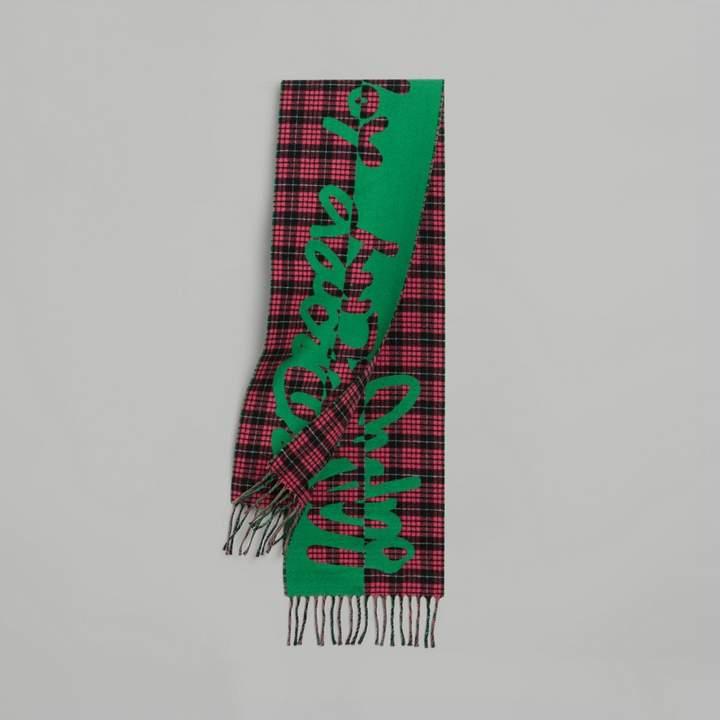 Burberry (バーバリー) - Burberry グラフィティ&タータン ウールジャカード スカーフ
