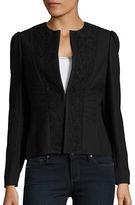 Elie Tahari Lace Panelled Blazer