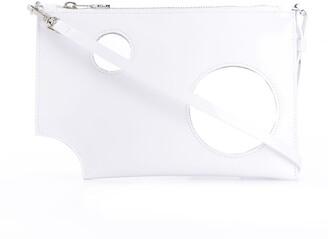 Off-White Transparent-Detail Clutch